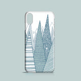 Abstract teal mountains iPhone X case