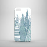 White and teal mountains iPhone SE case