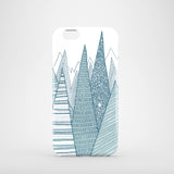 Teal peaks iPhone 7 polycarbonate case