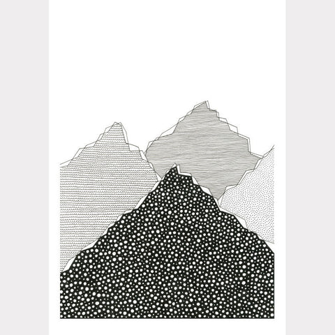 Snow Mountains A4 Art print