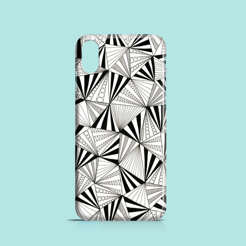 Triangles drawing iPhone XS case