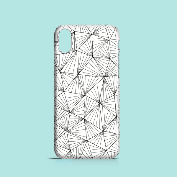 Stripy triangles geometric iPhone XR cover