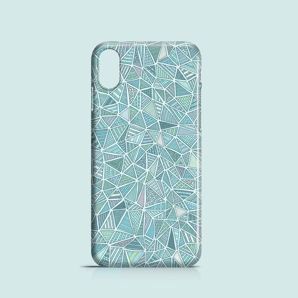 Blue geometric doodles iPhone X case
