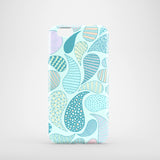 iPhone 6 case with pastel blue paisley pattern
