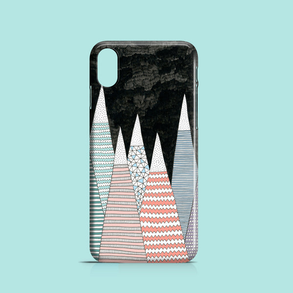 Pastel peaks iPhone X phone case