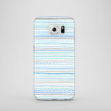 Blue and grey pattern Samsung Galaxy S8 case
