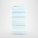 Blue and grey stripes iPhone 7 cover