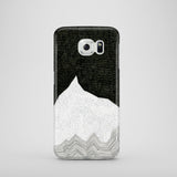 Polycarbonate Samsung Galaxy S7 case with mountain illustration