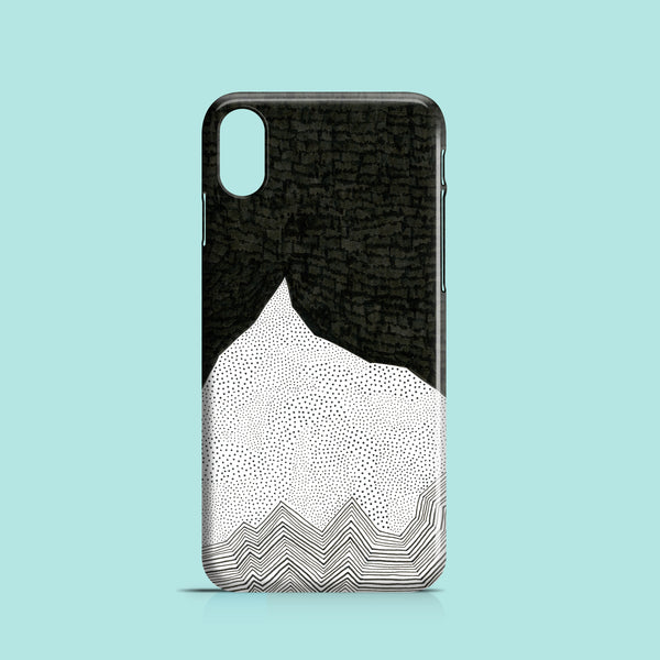 Mountain peak black and white iPhone X case
