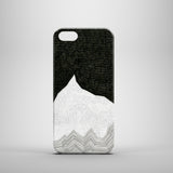 Black polkadots mountain iPhone 5 cover