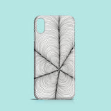 Linework monochrome iPhone X case