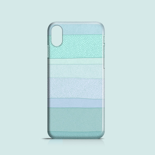 Pastel polkadot iPhone X click on case