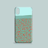 Poppy field illustrated iPhone X case