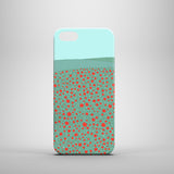 iPhone 5 case with poppy field and blue sky