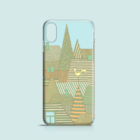 rooftop illustration iPhone X cover