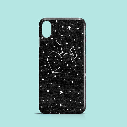 Black sagittarius iPhone XS case