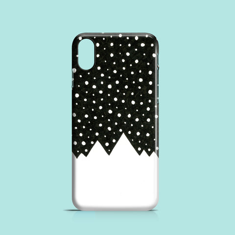 Snow covered hills iPhone XS case
