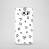 Black and white Christmas Samsung Galaxy phone case