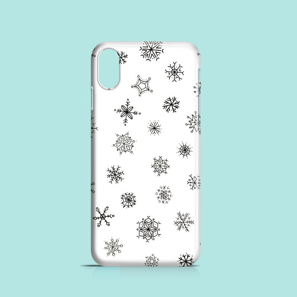 Graphic snowflake iPhone X case