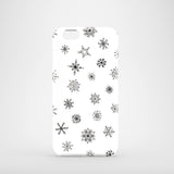 Monochrome snowflakes winter iPhone 6 case