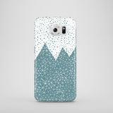Click on Samsung Galaxy phone case in teal blue and white with polkadots