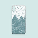 Teal mountains iPhone XS case