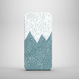 Polkadots geometric teal and white iPhone SE case
