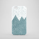 Teal and white mountain iPhone 7 cover