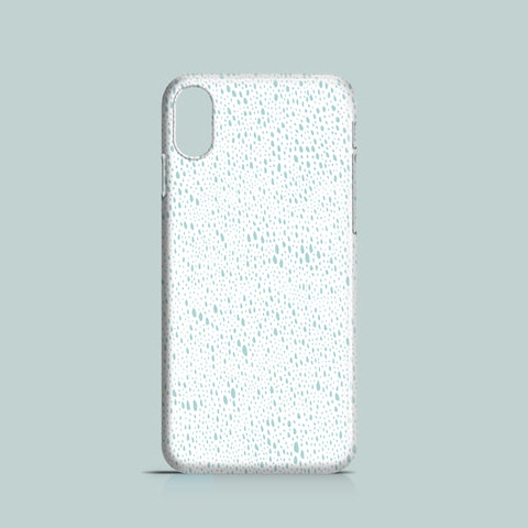 Teal Rain mobile phone case