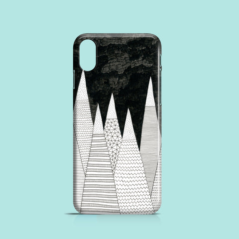 White mountain peaks iPhone XS cover
