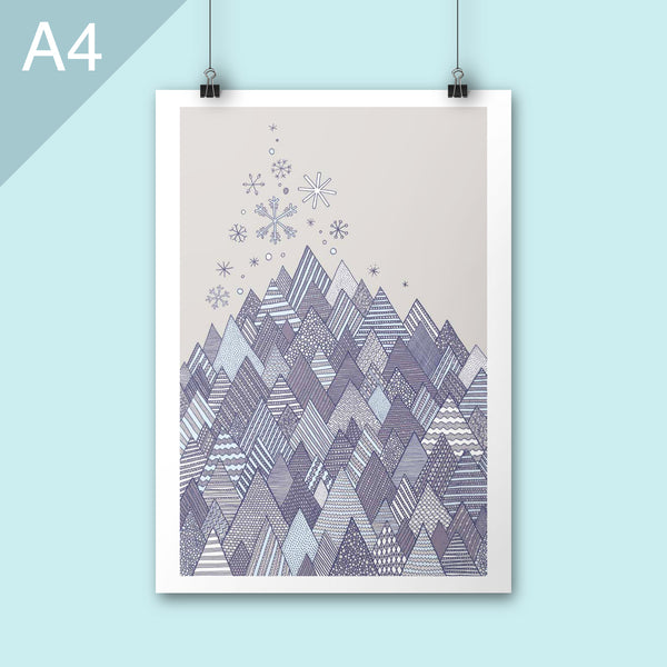 Winter dream illustration A4 poster art print