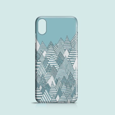 Winter forest iPhone X polycarbonate case