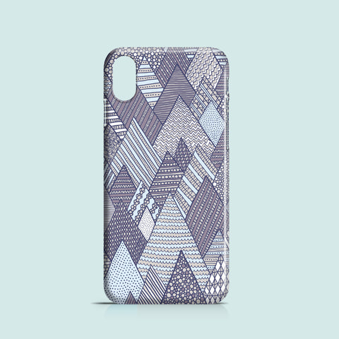 Purple winter illustrated iPhone XS case