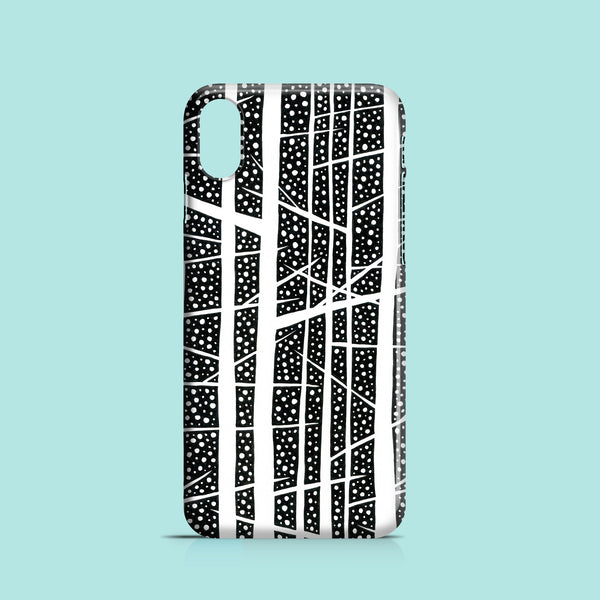Night forest illustration iPhone X case