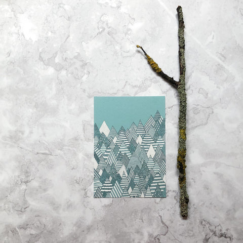Winter Forest A6 Art Print