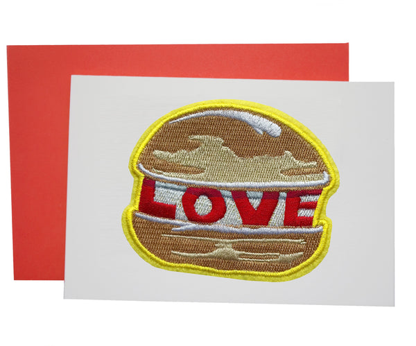 LOVE BURGER PATCH CARD - Dandy Star
