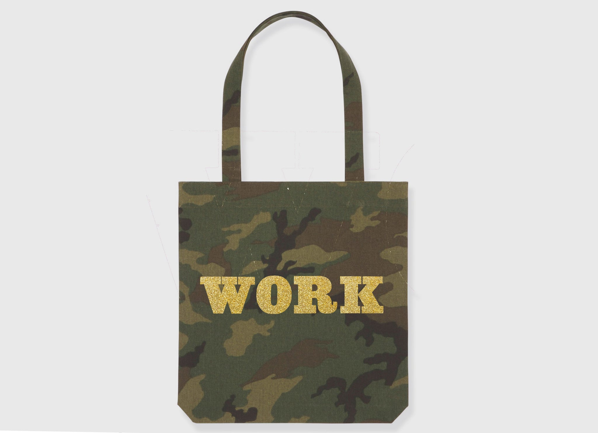 GLITTER WORK TOTE BAG