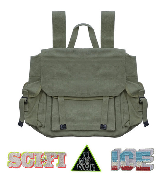 RUCKSACK : GREEN + 3 X PATCHES +/OR BADGE SETS