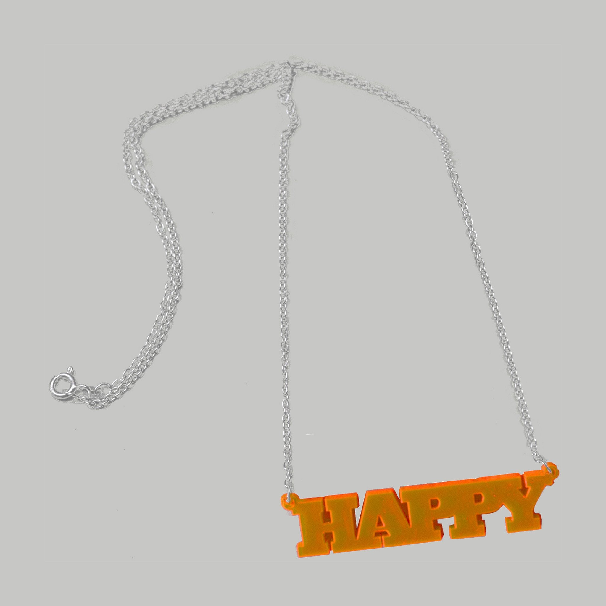 NEON EDGE HAPPY NECKLACE