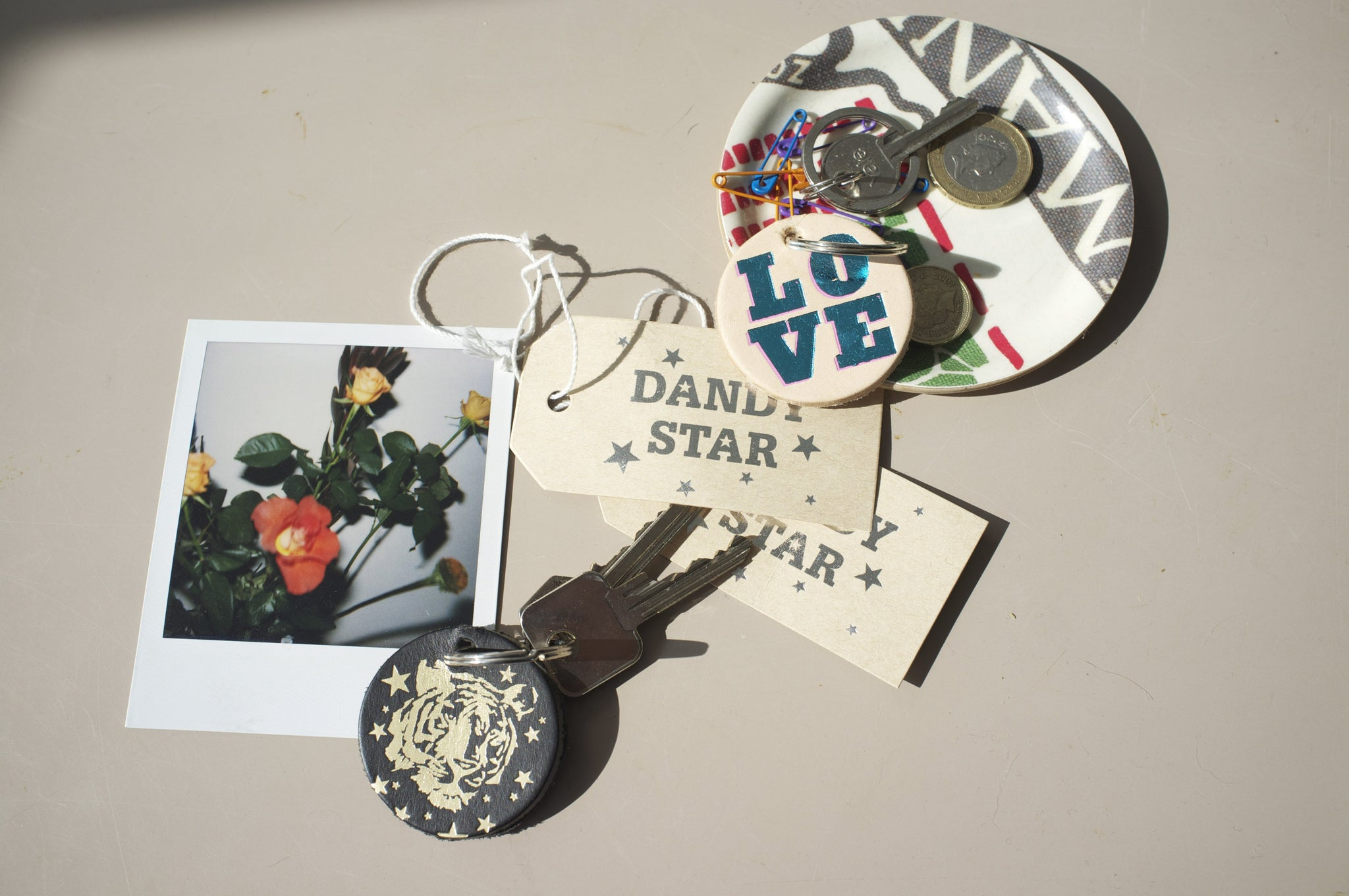 DANDY STAR HOME LEATHER KEY RING