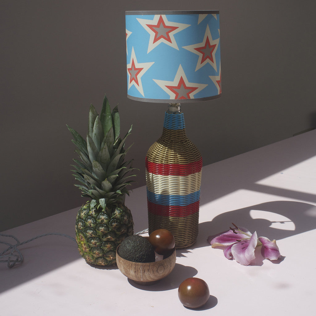 GOLD/BLUE/TOMATO TEQUILA LAMP BASE