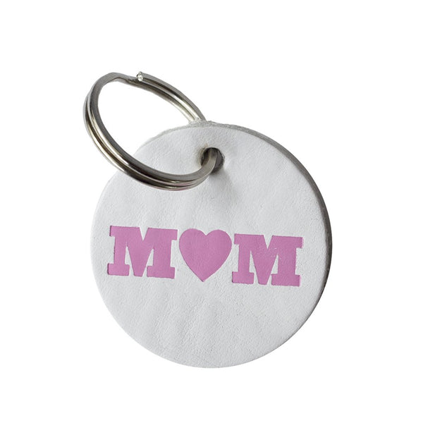 DANDY STAR MUM WHITE LEATHER KEY RING - Dandy Star