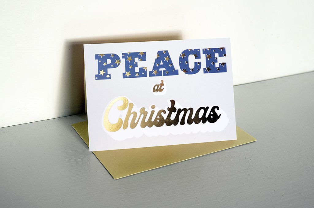 DANDY STAR PEACE AT CHRISTMAS GREETING CARD