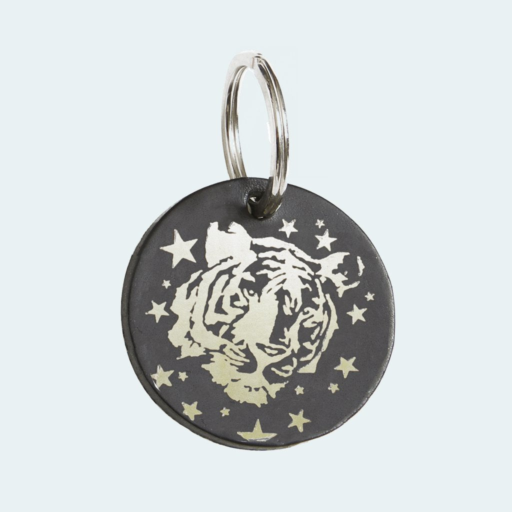 DANDY STAR SILVER TIGER STARS KEY RING - Dandy Star