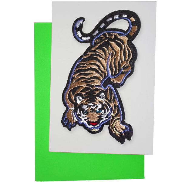 CROUCHING TIGER PATCH CARD - Dandy Star