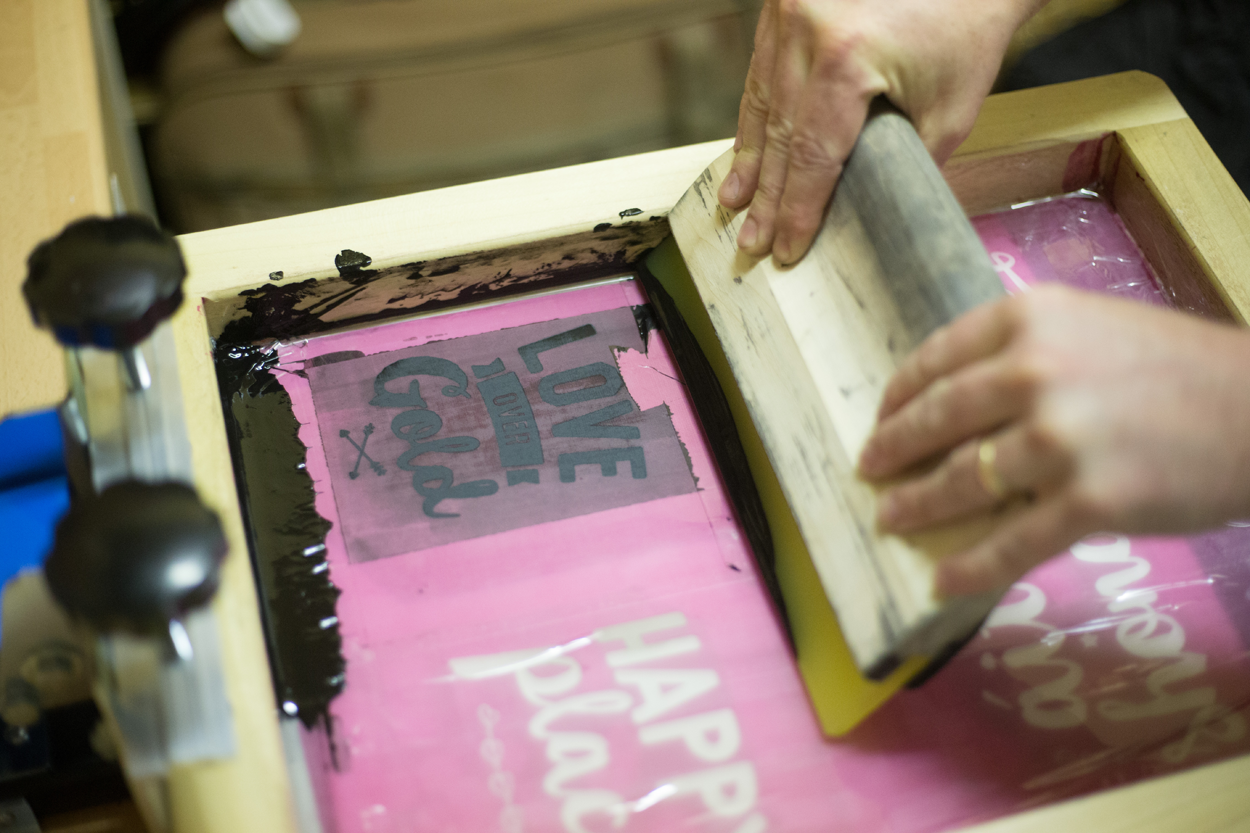 Screen Printing, How To Screen Print, Irish Craft, Craft and Design, Workshop, Crafter, Small  Business, Demo