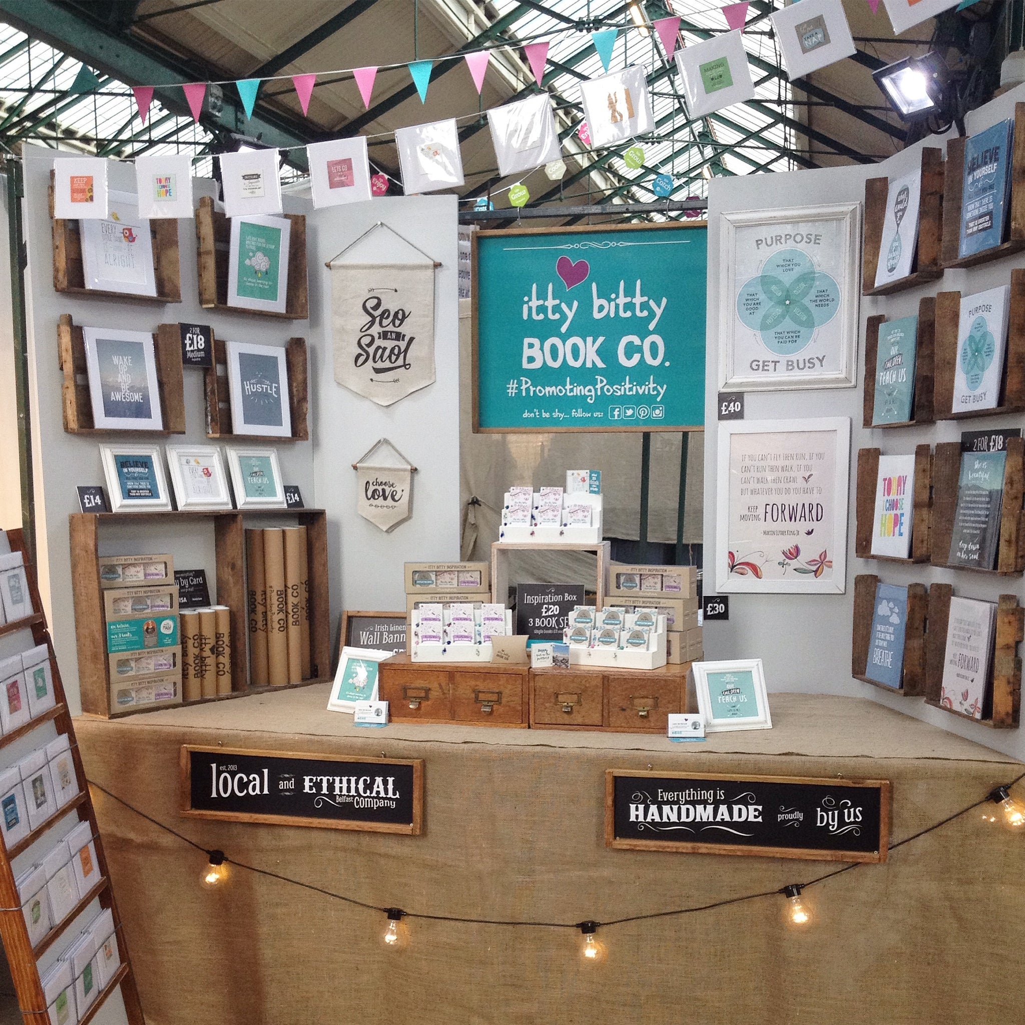 Small Business, Irish Business, Irish Craft, St Georges Market, Small Business Saturday, Crafts, Handmade Gifts, Market Stall, Itty Bitty Book Co