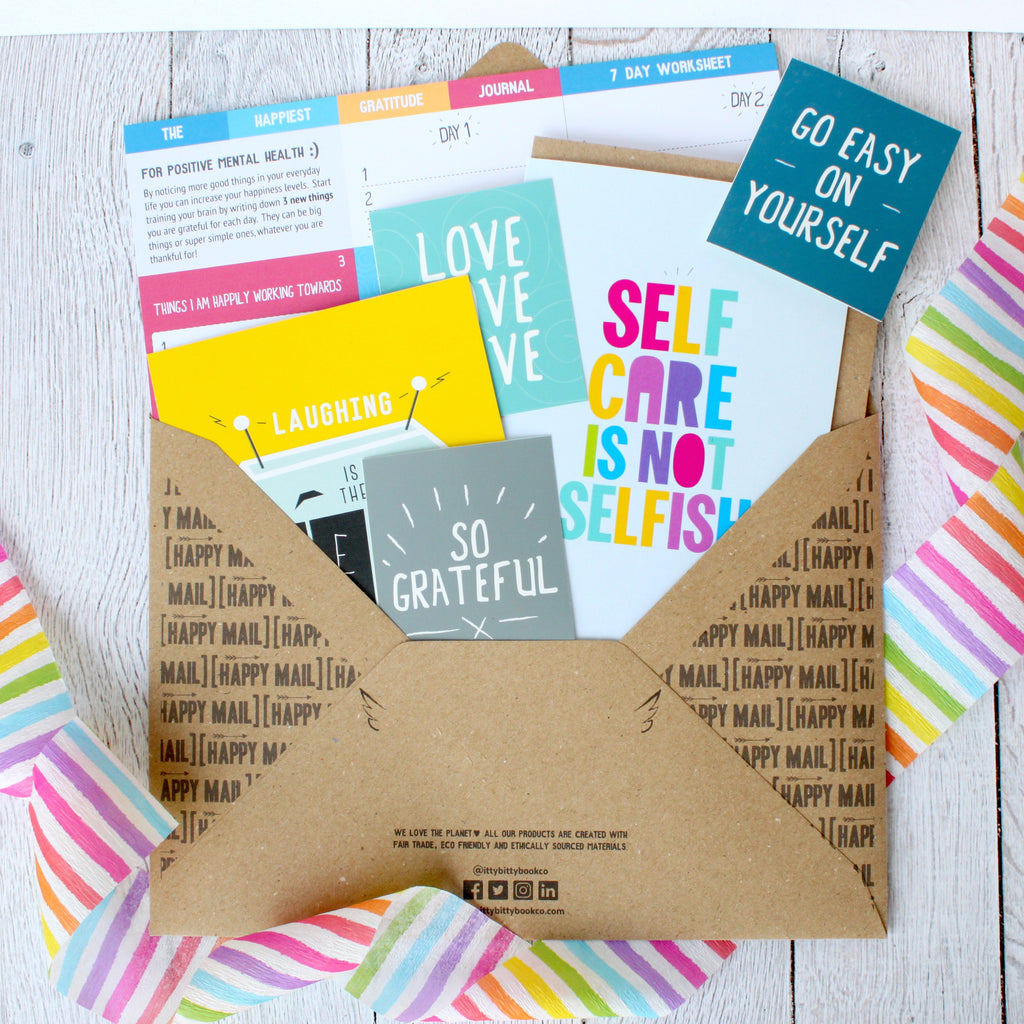 happy mail subscriptions, positive mental health, gift subscription