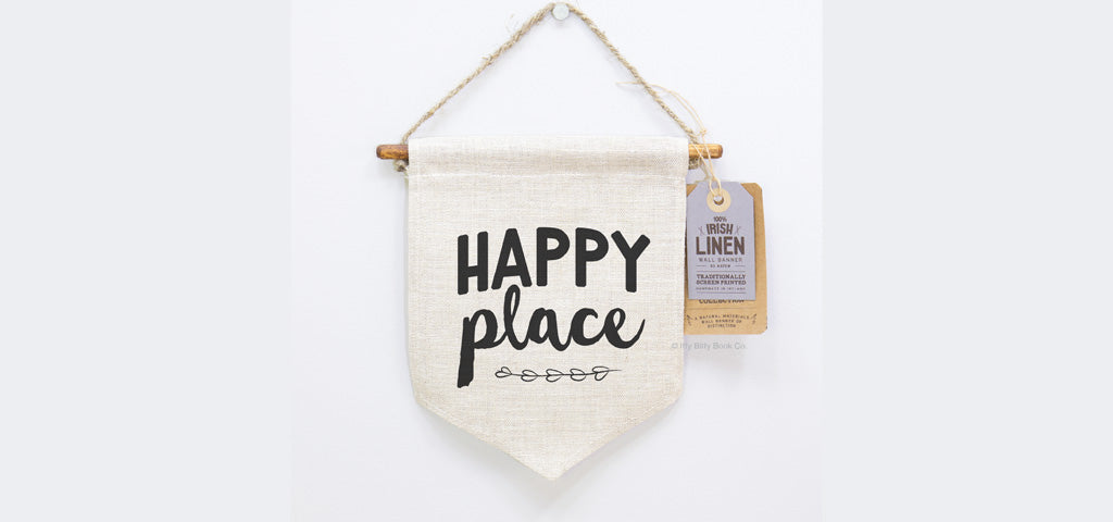 Happy Place Wall Pennant