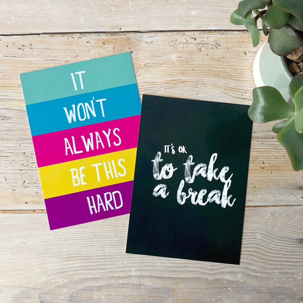 encouraging postcards, inspirational quotes postcards uk, postcard set